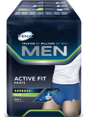 TENA MEN PANTS ACTIVE FIT PLUS LRG 18'S