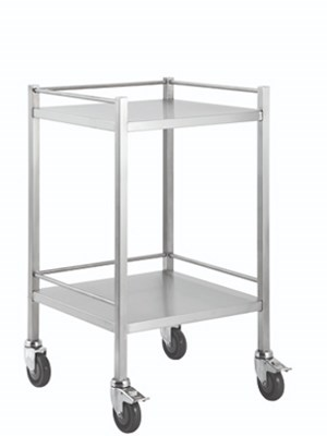 TROLLEY No Drawers Stainless Steel 500x500x900mm