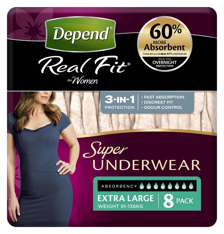 Depend Real Fit Underwear Super X Large - Ctn/8