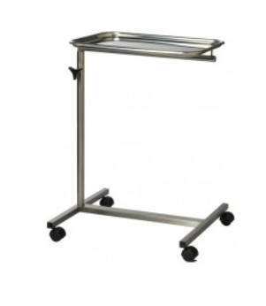 Mayo Stainless Steel Instrument Trolley - 4 Leg Base