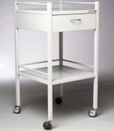 Dressing Trolley with 1 Drawer 490 x 490 x 900mm