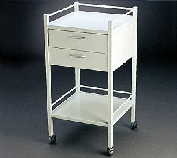 DRESSING TROLLEY WITH 2 DRAWER 490 x 490 x 900mm