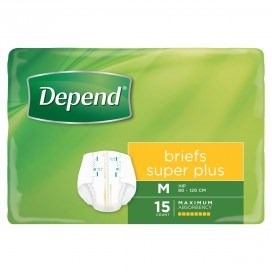 Depends Briefs Super Plus Medium - Ctn/15