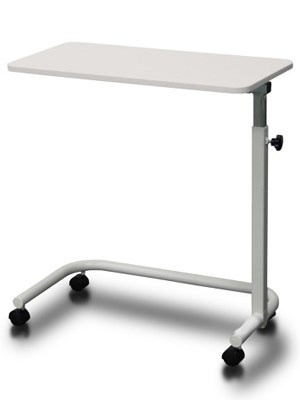 Overbed Table with Manual Height Adjust 73-105cm
