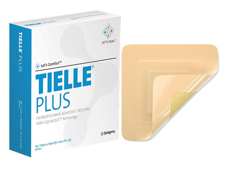 Tielle Plus Adhesive Foam Dressing 11cm x 11cm - Box/10