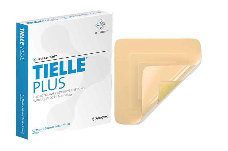 Tielle Plus Adhesive Foam Dressing 15cm x 20cm Box/5