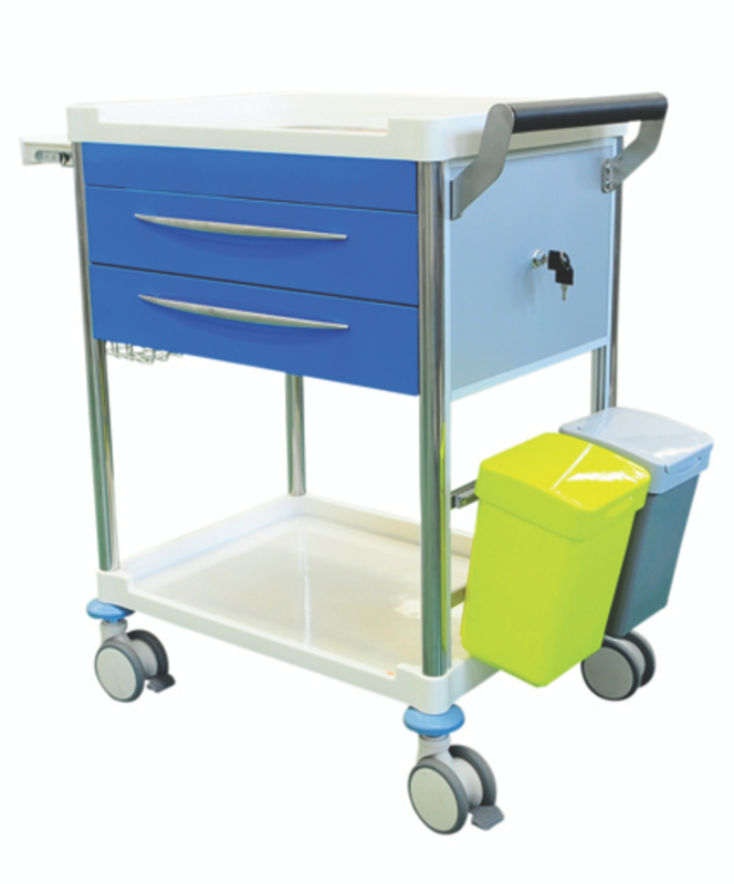 TREATMENT TROLLEY 2 DRAWER + ACCESSORIES
