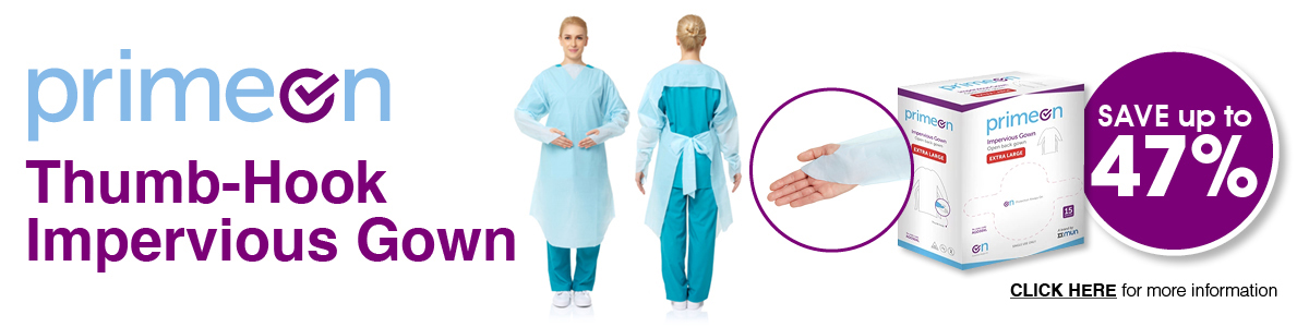MUN PrimeOn Thumb-Hook Impervious Gowns